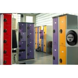 Vestiaires multicasiers à monter 5 portes avec serrure à code H180xP50xL30 cm