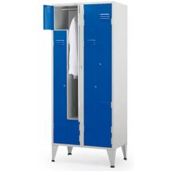 Vestiaire Eco porte en Z 3 colonnes 6 cases L120xP50xH190 cm