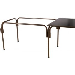 Lot de 20 tables rallongeables et modulables métal peint 120x80 cm
