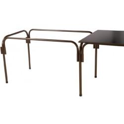 Lot de 20 tables rallongeables et modulables métal galvanisé 120x80 cm