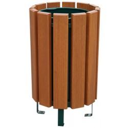 Corbeille Tonquédec bois exotique 80 L avec seau