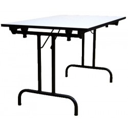 Table pliante Athena 120x80 mélaminé 22 mm chant PVC