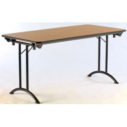 Table pliante Artemis 140x80 mélaminé 22 mm chant PVC