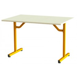 Table de restauration Fun à dégagement latéral plateau stratifié 120x80 cm