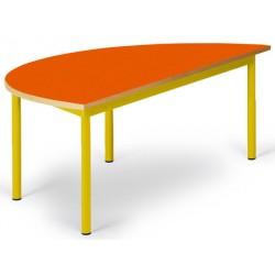 Table maternelle Elise stratifié pieds métal demi lune 120x60 cm TC à T3