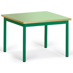Table maternelle Elise stratifié pieds métal 80x80 cm TC à T3
