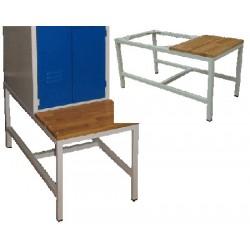 Banc pour armoire vestiaire monobloc industrie propre 4 cases