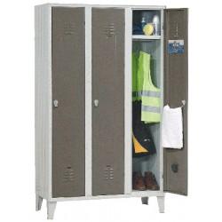 Armoire vestiaire monobloc industrie propre 3 cases