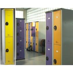 Vestiaire monobloc multicasiers Top sans pied avec moraillon  3 colonne L40 cm 6 portes