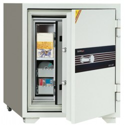 Coffre ignifugé pour supports sensibles 80L serrure A2P L69xP72xH83 cm
