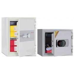 Coffre ignifugé 49L à clé pour supports papier H54,6xL45xP46 cm