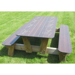 Table de pique-nique Riyad L200 cm
