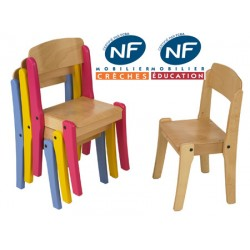 Chaise bois NF Pioupiou empilable T3