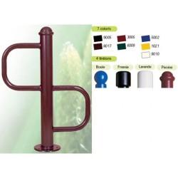 Support velos 2 places finition pivoine à sceller ou sur platine