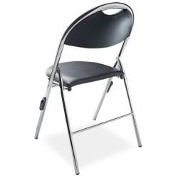 Lot de 4 chaises pliantes accrochables Lucie tissu enduit non feu M2