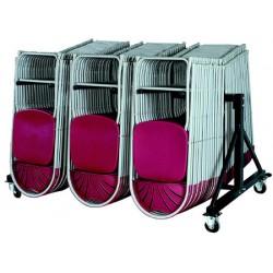 Chariot de stockage pour 48 chaises pliantes