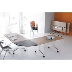 Table mobile et rabattable Oxygène 160x80 cm structure chromée