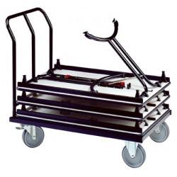 Chariot 10 tables pliantes L120 cm
