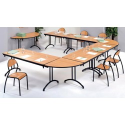 Table pliante Omega stratifiée ép. 21mm chant PVC 120x80 cm