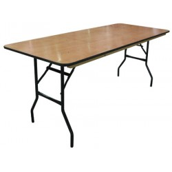 Table pliante plateau bois multi services 183x76 cm
