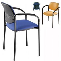 Lot de 4 fauteuils empilables Galiléo  tissu standard G1