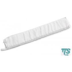 Frange en microfibre blanche 60x9cm