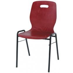 Chaise coque bois Katie empilable et accrochable vernis couleur