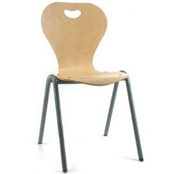 Chaise coque bois Elisa 4 pieds