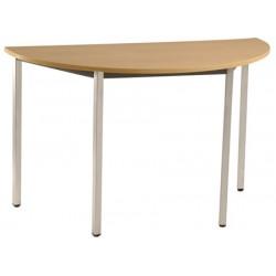 Table de réunion modulable 1/2 lune 120x60 cm pieds carrés