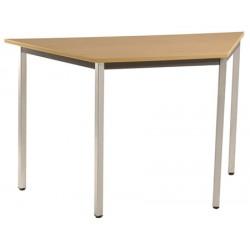 Table de réunion modulable trapèze 140x70 cm pieds carrés