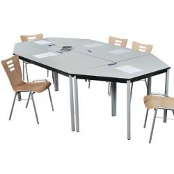 Table Beta 4 pieds 120x80 mélaminé 22 mm chant PVC