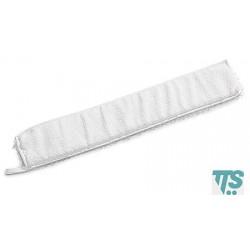 Frange en microfibre blanche 40x9cm