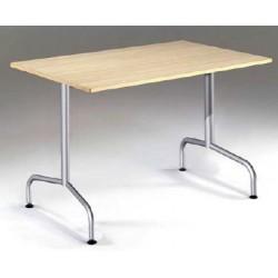 Table haute à dégagement latéral Barbara stratifié PVC L120xP80XH110cm