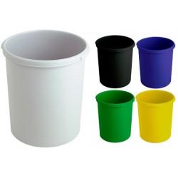 Corbeille à papier plastique ronde 30L