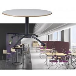 Table restauration Maïwenn à Piètement central ø 120 cm stratifié chant alaisé T1 à T6