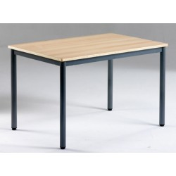 Table de restauration NF 4 pieds Flore stratifié alaise 140x80 cm