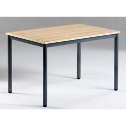Table de restauration NF 4 pieds Flore stratifié alaise 140x70 cm