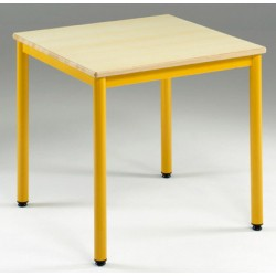 Table de restauration NF 4 pieds Flore stratifié chant alaise 80x80 cm