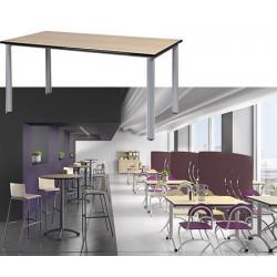 Table restauration Maïwenn 4 pieds 160x80 cm stratifié chant alaisé T1 à T6