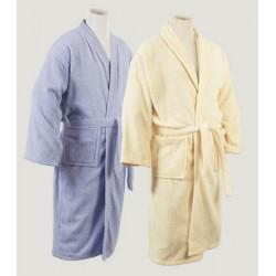 Peignoir kimono blanc ou couleur coton 460 g