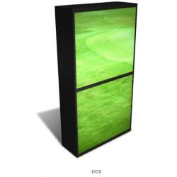 Personnalisation armoire à rideaux Futura H204 cm dos