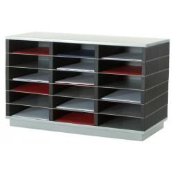 Trieur 9 cases A4 L75 x P32,8 x H23,2 cm