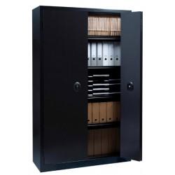 Armoire monobloc métal portes pliantes NF Office Excellence 198x120x43 cm