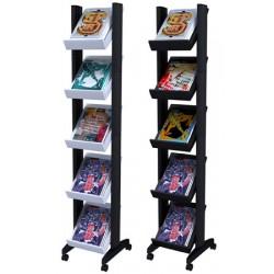 Présentoir mobile Corner 5 tablettes L35 x P38,2 x H167,5 cm