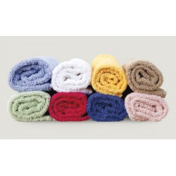 Lot de 240 serviettes invité 30x50 cm coton blanc 550 g