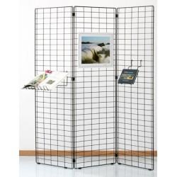 Grille d'exposition Bermudes 3 panneaux 180x80 cm