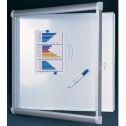 Vitrine intérieure Licorne verre sécurit fond métal 15 A4 (98x113 cm)
