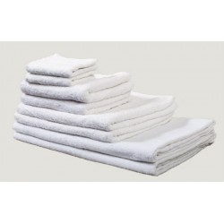 Serviette de toilette 50x100 cm coton blanc 420 g