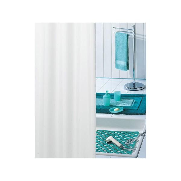 rideau de douche pvc uni blanc h200xl120 cm. Black Bedroom Furniture Sets. Home Design Ideas