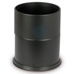 Corbeille à papier avec anneau 15 litres noire